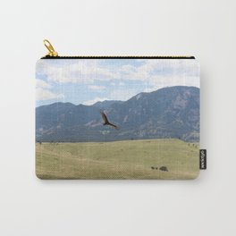 Mid-Flight in the Mountains Carry-All Pouch