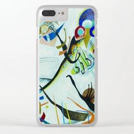 Vassily Kandinsky 1921 Segment blue Clear iPhone Case