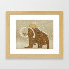 mammoth days  Framed Art Print