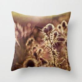 prickly glow Throw Pillow