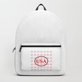 USA Red White & Blue jGibney The MUSEUM Society6 Gifts Backpack
