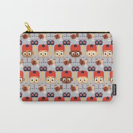 Baseball Orange and Grey - Super cute sports stars Carry-All Pouch