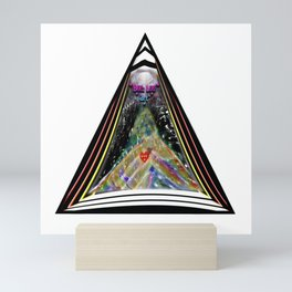 """Beez Lee Art : Love Leads Through Triangle Darkness"" Mini Art Print"