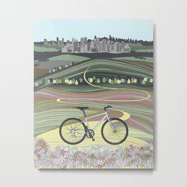 Bicycle Illustration Metal Print