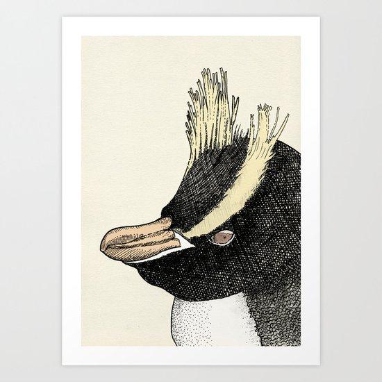 Erect Crested Penguin Art Print
