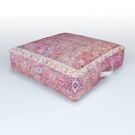 Pink Vintage Antique Oriental Traditional Moroccan Original Artwork Outdoor Floor Cushion