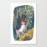 kiki Canvas Prints featuring Kiki by Verity