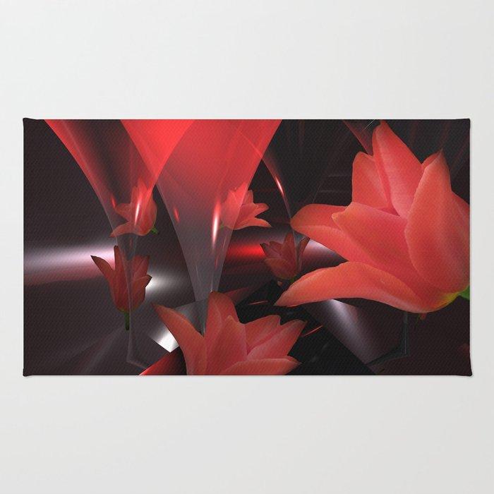 tulip reflections Rug