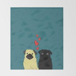 Pugs In Love Throw Blanket