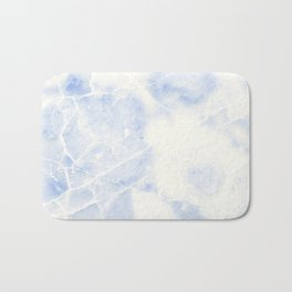 Blue and White Marble Waves Bath Mat