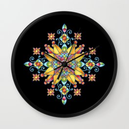 Alhambra Stained Glass Wall Clock