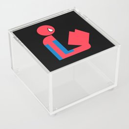 Gentleman Spider Reads Acrylic Box