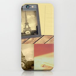 Postcard France 01 iPhone Case