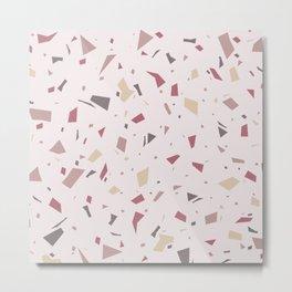 Soft Pastel Pink Terrazzo - Abstract Granite Marble Speckle Texture - Modern Minimal Pattern Metal Print