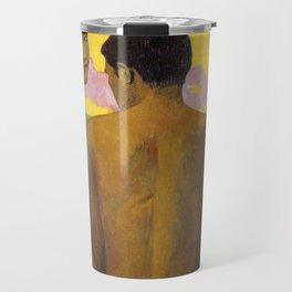 Three Tahitians by Paul Gauguin Travel Mug