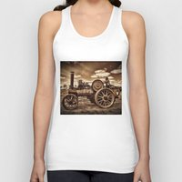 jem Tank Tops featuring Jem General Purpose Engine in sepia by Avril Harris