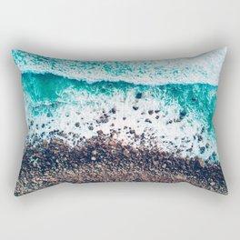 Crashing Waves on the Shore (Color) Rectangular Pillow