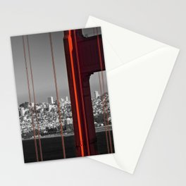 Golden Gate Bridge | Panoramic Downtown View Stationery Cards