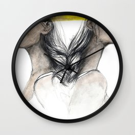 Twins sisters soulmates Wall Clock