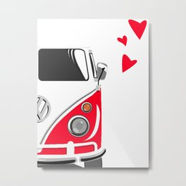 Combi LOVE RightSide Metal Print