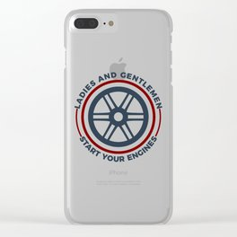 Racers Start Your Engines Racing Driving Competition Clear iPhone Case