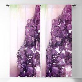 Amethyst Geode Blackout Curtain