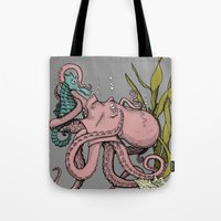 my little pony Tote Bags featuring My Little Pony (Color) by Seth Spriggs