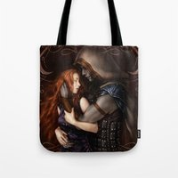 book cover Tote Bags featuring Radiance Book Cover by Helheimen Design