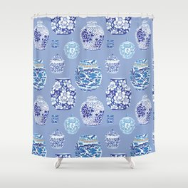 Chinoiserie Ginger Jar Collection No.6 Shower Curtain