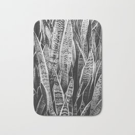 Plant Photography Tropical Exotic Plants Snake Plant Tongue Beauty Wild Nature Black and White Bath Mat