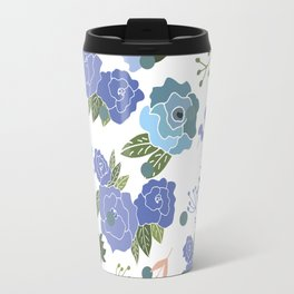 Blue Roses Travel Mug