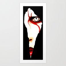 Red Line Art Print