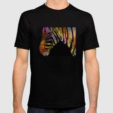 Zebra in Celebrating Dress Mens Fitted Tee MEDIUM Black