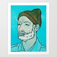 zissou Art Prints featuring Zissou by KatieHuman