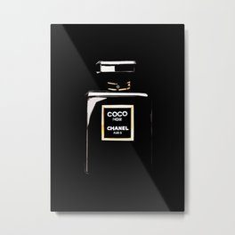 Classic Black Parfum on black Metal Print