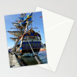Swedish sailship Götheborg in Aarhus in Denmark Stationery Cards