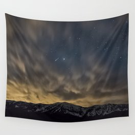 Meteor Over The Bridgers Wall Tapestry