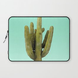 Cactus on Cyan Wall Laptop Sleeve