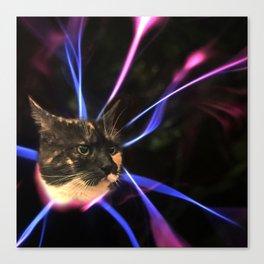 Plasma Cat Canvas Print