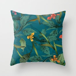 Beets and Irisses pattern Throw Pillow