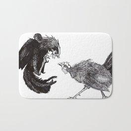 Cock Fight Bath Mat