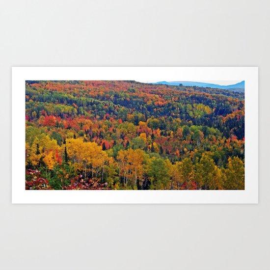 Pure Nature in October Art Print