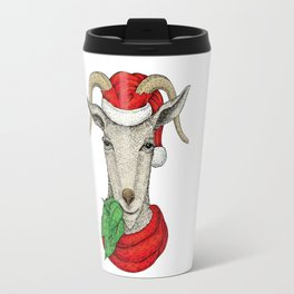Christmas Goat Travel Mug