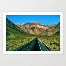 On the Road to Chile Art Print