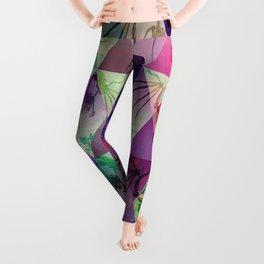 Geometric acid Dragon Leggings