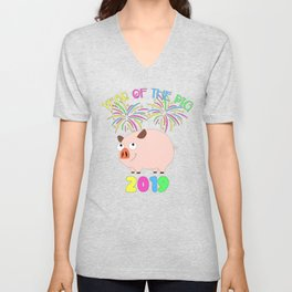 Year Of The Pig Chinese New Year Astrology Zodiac Unisex V-Neck