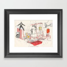Chart Of Lubrication Points Of D-103 Engine Framed Art Print