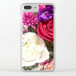 Floral Love Clear iPhone Case
