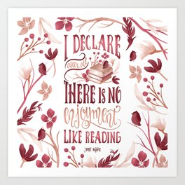 I DECLARE AFTER ALL Art Print