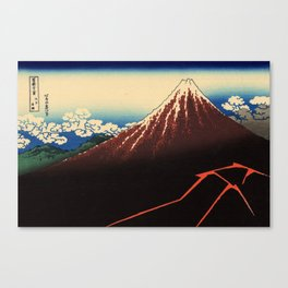 Rainstorm Beneath the Summit (Sanka hakū or 山下白雨) Canvas Print